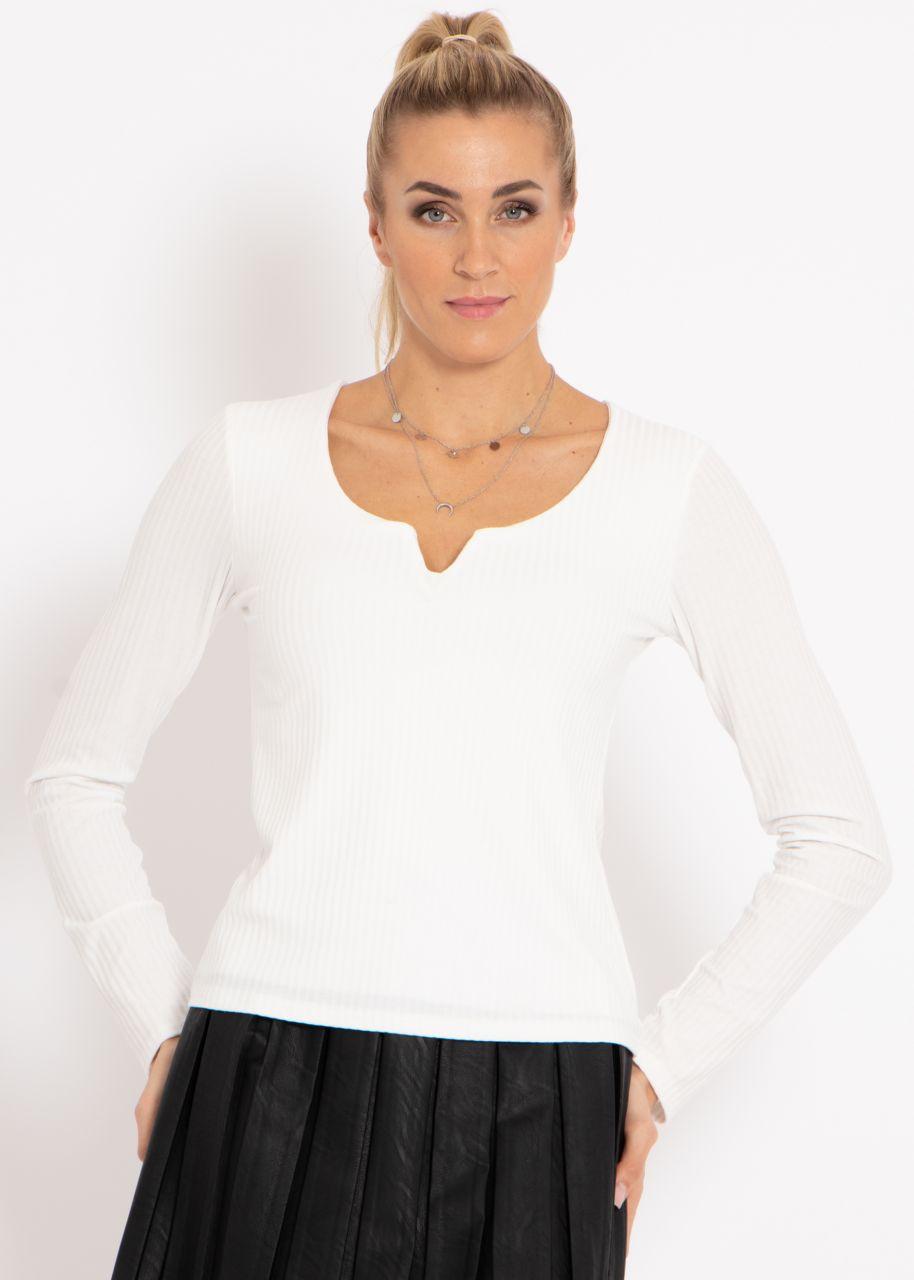 Langarm-Shirt, offwhite