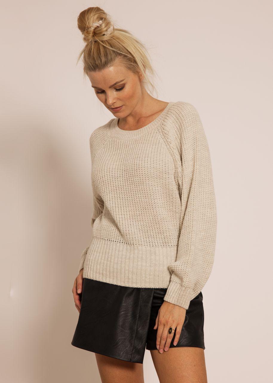 Raglan sweater, beige