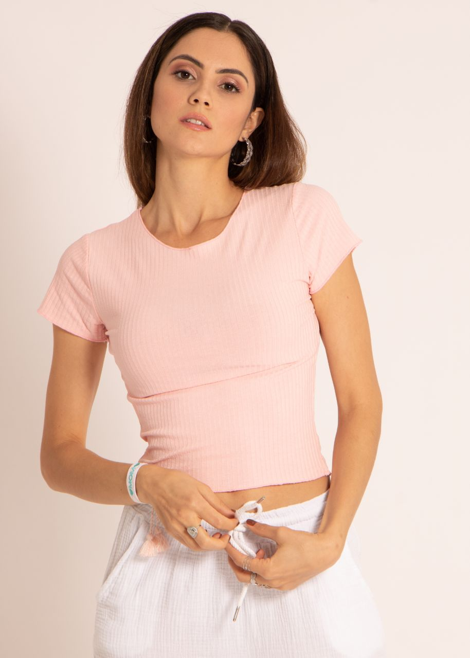 Crop-Shirt, rosa