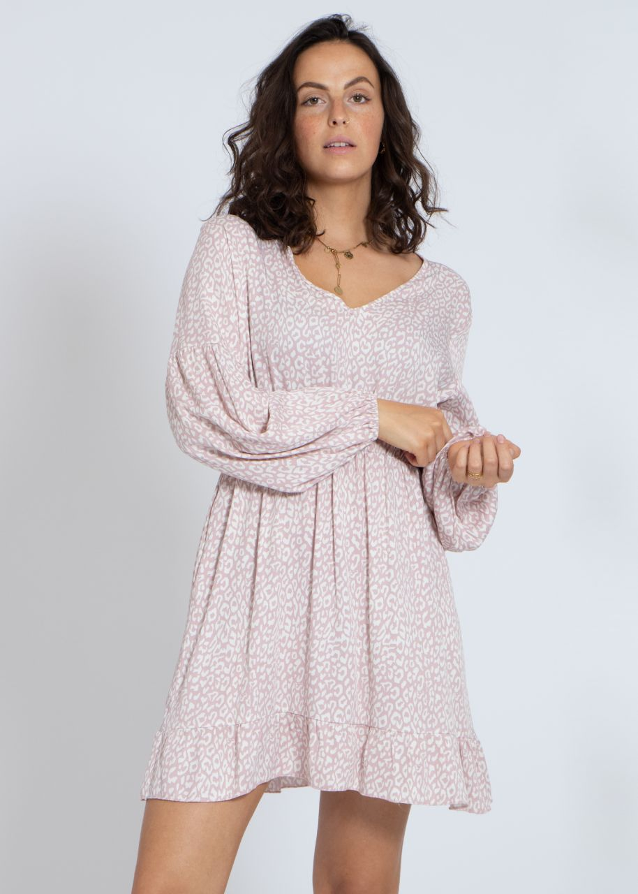 Dress with print, pink