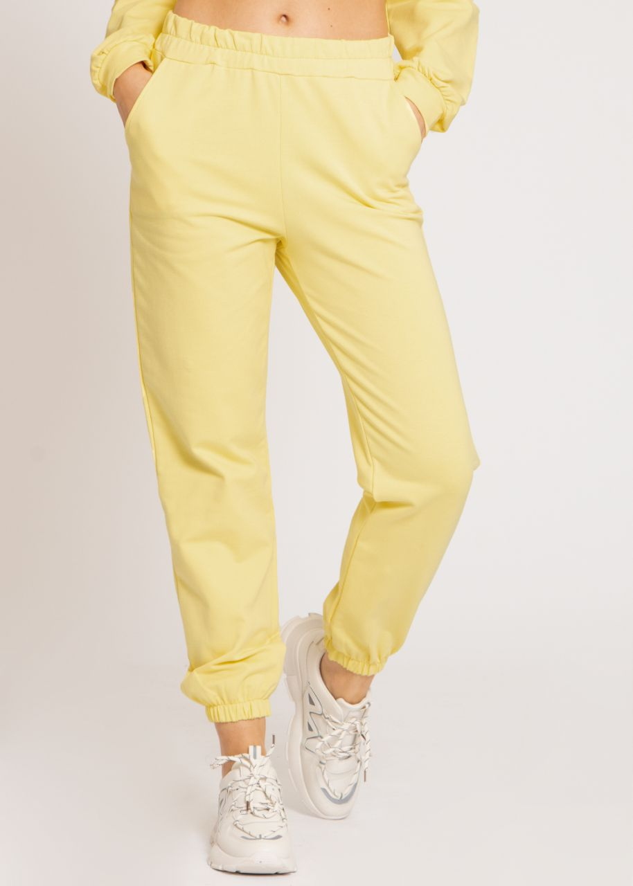 Lounge-Pants, gelb